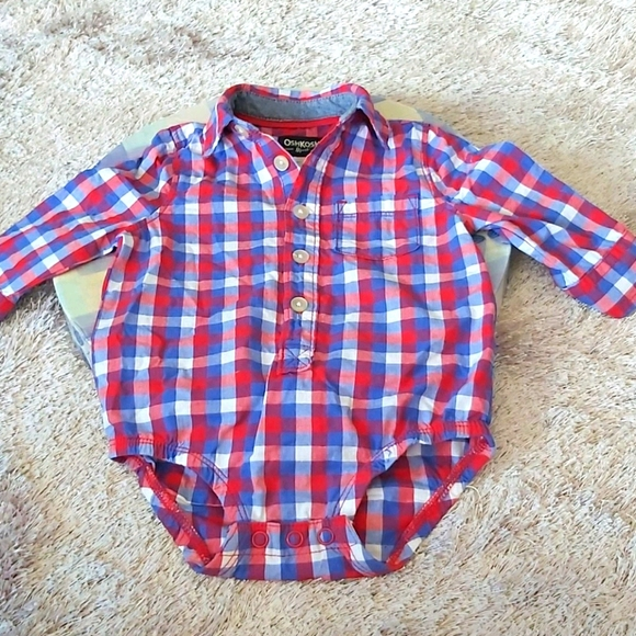 💝💝💝 Oshkosh Onesie Dress Shirt